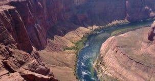 Widok z lotu ptaka podkowa chył w Arizona zbiory wideo