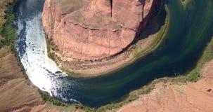 Widok z lotu ptaka podkowa chył w Arizona zbiory
