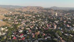 Widok z lotu ptaka podmiejski miasteczko zbiory