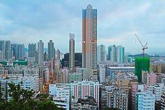 Widok z lotu ptaka Podrabiany Shui Po okręg obraz royalty free