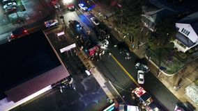 Widok Z Lotu Ptaka pojazdu mechanicznego wypadek samochodowy zbiory wideo