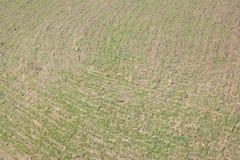 Widok z lotu ptaka pole Zdjęcia Royalty Free