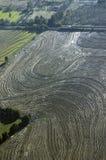 Widok z lotu ptaka pole Zdjęcie Royalty Free