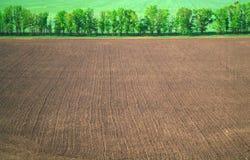 Widok z lotu ptaka pole, krajobrazy. zdjęcie stock