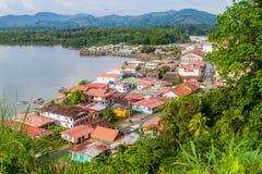 Widok z lotu ptaka Portobelo wioska, Pan zdjęcia stock