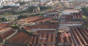 Widok z lotu ptaka portowi lochy Fotografia Royalty Free