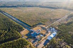 Widok z lotu ptaka Postępowy LIGO detektor w Livingston obraz royalty free
