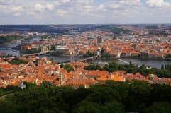Widok z lotu ptaka Praga Obrazy Stock