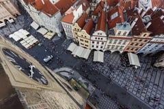 Widok z lotu ptaka Praga, czech rebublic Zdjęcia Stock