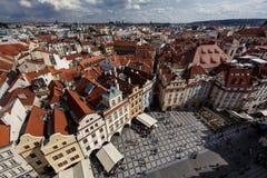 Widok z lotu ptaka Praga, czech rebublic Zdjęcia Royalty Free