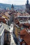 Widok z lotu ptaka Praga, czech rebublic Fotografia Royalty Free