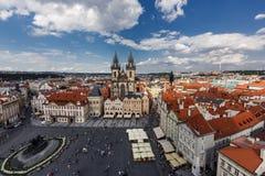 Widok z lotu ptaka Praga, czech rebublic Obraz Stock