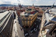 Widok z lotu ptaka Praga, czech rebublic Obraz Royalty Free