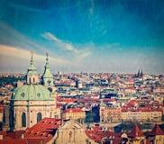 Widok z lotu ptaka Praga od Praga kasztelu Fotografia Royalty Free