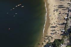 Widok Z Lotu Ptaka Praia Vermelha, Rio De Janeiro obraz royalty free