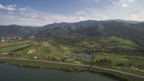 Widok z lotu ptaka Pravets pole golfowe, Pravets, Bułgaria, 14 2018 Sierpień zdjęcie royalty free