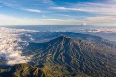 Widok z lotu ptaka przy kalderą Batur od Agung wulkanu Fotografia Royalty Free