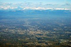 Widok z lotu ptaka przy Treviso fotografia royalty free