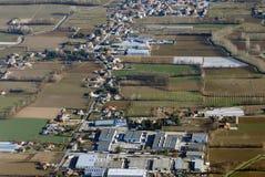 Widok z lotu ptaka przy Treviso zdjęcia stock