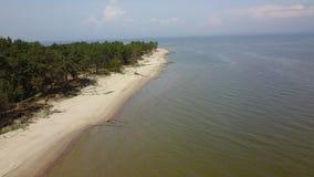 Widok z lotu ptaka przylądek Kolka, morze bałtyckie, Latvia zbiory