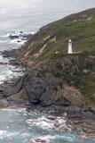 Widok z lotu ptaka przylądka Otway latarnia morska, Wiktoria, Australia fotografia stock