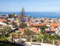 Widok z lotu ptaka Puerto De Los angeles Cruz Zdjęcia Stock