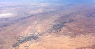 Widok z lotu ptaka pustynia krajobraz Zdjęcie Royalty Free