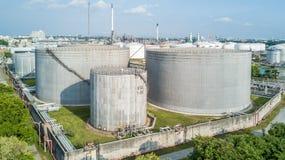 Widok z lotu ptaka rafineria ropy naftowej Zdjęcie Royalty Free