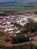 Widok z lotu ptaka Średniorolny jarmark Fotografia Royalty Free