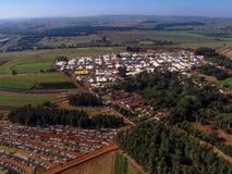 Widok z lotu ptaka Średniorolny jarmark Fotografia Stock
