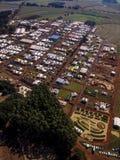 Widok z lotu ptaka Średniorolny jarmark Zdjęcia Royalty Free