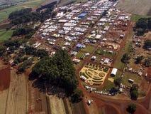 Widok z lotu ptaka Średniorolny jarmark Obrazy Stock