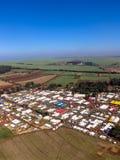Widok z lotu ptaka Średniorolny jarmark Obrazy Royalty Free