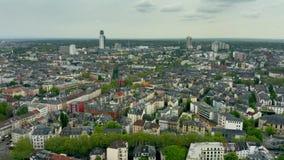 Widok z lotu ptaka residentail teren Frankfurt magistrala, Niemcy - jest - zbiory wideo