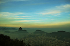 Widok z lotu ptaka Rio, Brazylia Obrazy Stock