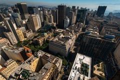 Widok Z Lotu Ptaka Rio De Janeiro śródmieścia budynki Zdjęcia Royalty Free