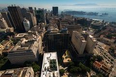 Widok Z Lotu Ptaka Rio De Janeiro śródmieścia budynki Zdjęcie Stock
