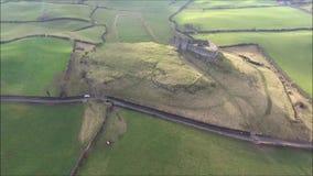 widok z lotu ptaka Roche kasztel Dundalk Irlandia zdjęcie wideo