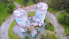 Widok z lotu ptaka rockowego pięcia struktura w Santiago, Chile Zdjęcia Royalty Free