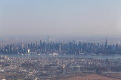 Widok z lotu ptaka środka miasta Manhattan linia horyzontu Fotografia Stock