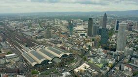 Widok z lotu ptaka ?rodkowa stacja kolejowa Frankfurt magistrala, Niemcy - jest - zbiory