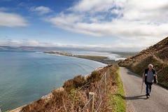 Widok z lotu ptaka Rossbeigh plaża Zdjęcie Royalty Free