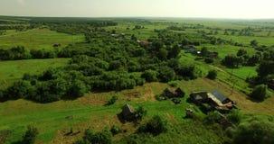 Widok z lotu ptaka Rosyjski kraju lata krajobraz zbiory wideo