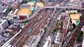 Widok z lotu ptaka ruch drogowy w Osaka, Japonia zbiory wideo