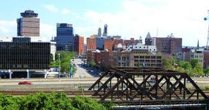 Widok z lotu ptaka ruch drogowy w Rochester, Nowy Jork Obraz Stock