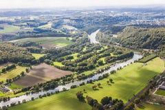 Widok z lotu ptaka Ruhr Aeria, Niemcy zdjęcia royalty free