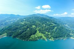Widok z lotu ptaka Rumuński las zdjęcia stock