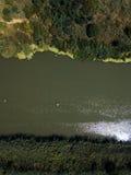 Widok z lotu ptaka rzeka Fotografia Royalty Free