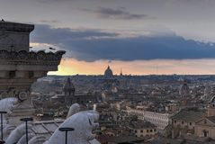 Widok Z Lotu Ptaka - Rzym, Włochy fotografia stock
