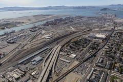 Widok Z Lotu Ptaka San Fransisco zatoka i Oakland schronienie Fotografia Stock